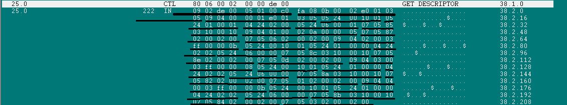 720模块USB描述符详解