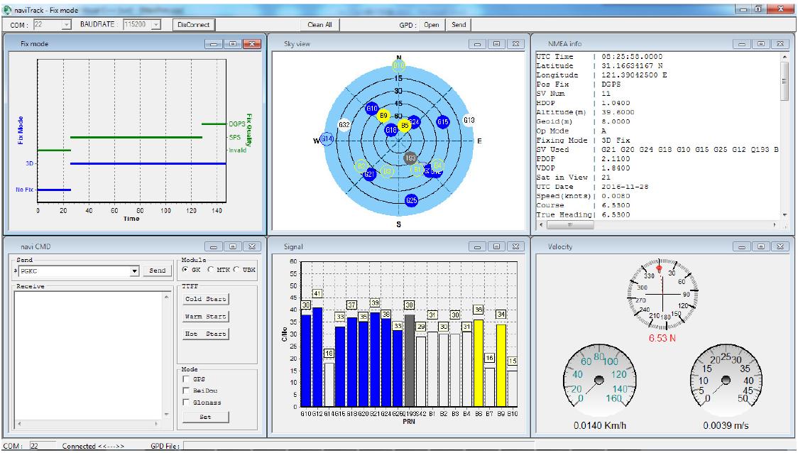 GPS信噪比测试方法